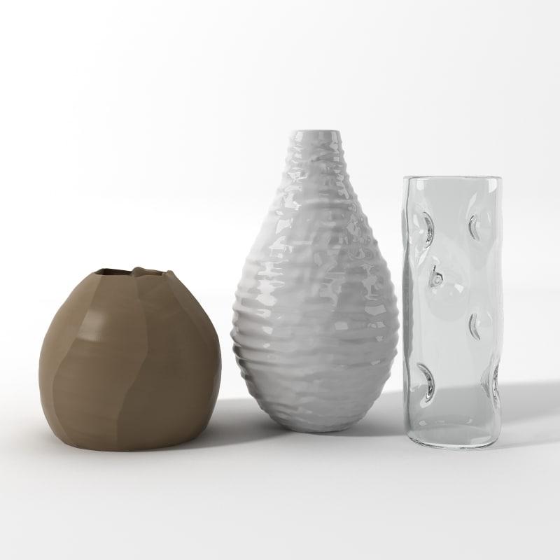 realistic vases set 3d max