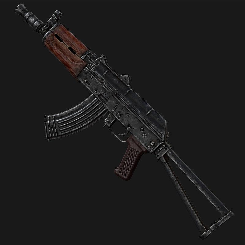 aks-74u modern 3d max