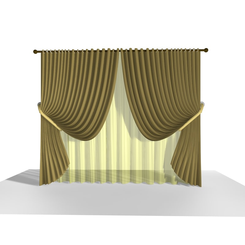 curtain 14 3d model