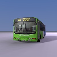 3d single english country bus model