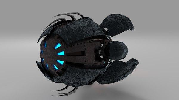 sci fi drone obj