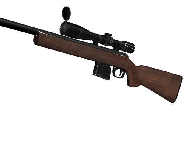 rifle 3d max
