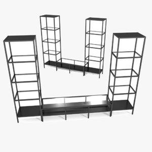 3d model ikea tv storage set