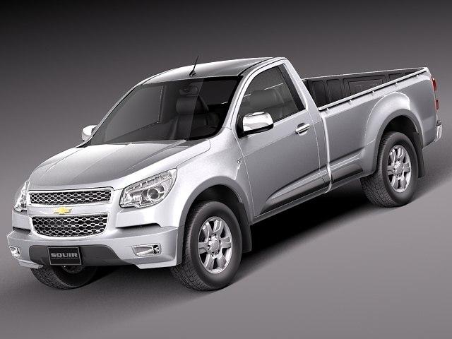 3d model chevrolet colorado 2012 pickup