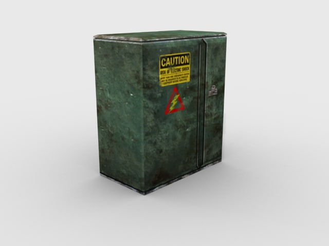 green electrical box 3d max