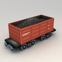 coal car 3d obj