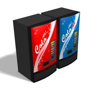 3d soda machines model