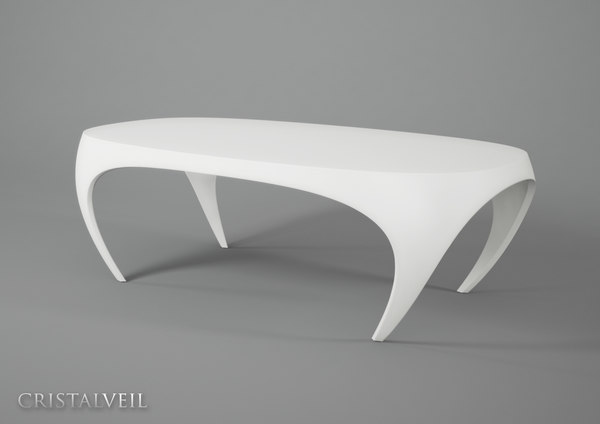 3d cristal veil design table model
