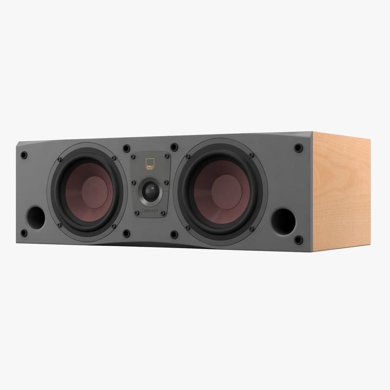 dali concept center speaker 3d model