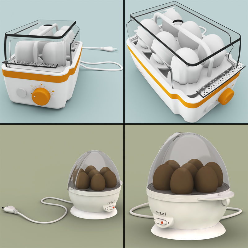 3dsmax egg cookers