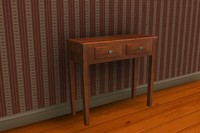 interior end table 3d obj