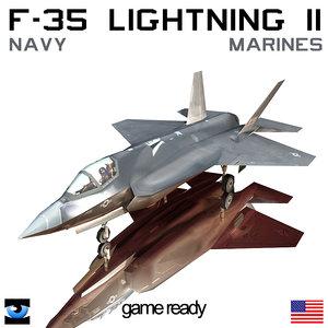 f 35 lightning 3d max