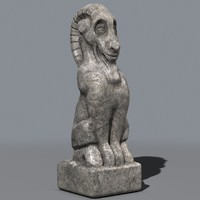 Goat statue