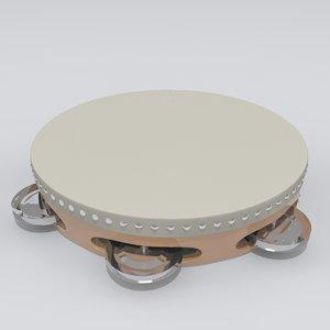 tambourine modeled 3d model