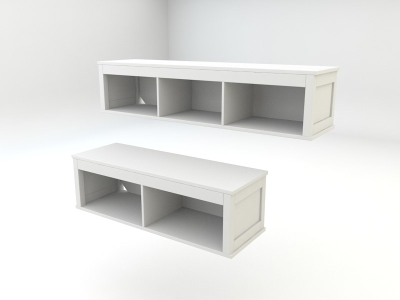 Ikea Hemnes Livingroom Wall 3d Max