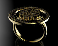 gold ring 3d max