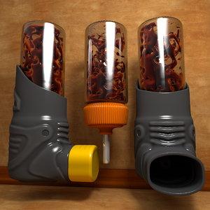 3d inhaler model