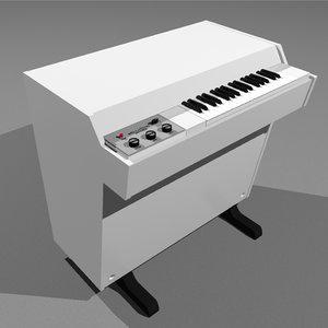 c4d mellotron vintage keyboard