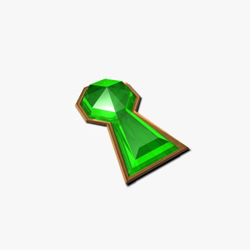 free keyhole brooch pin 3d model