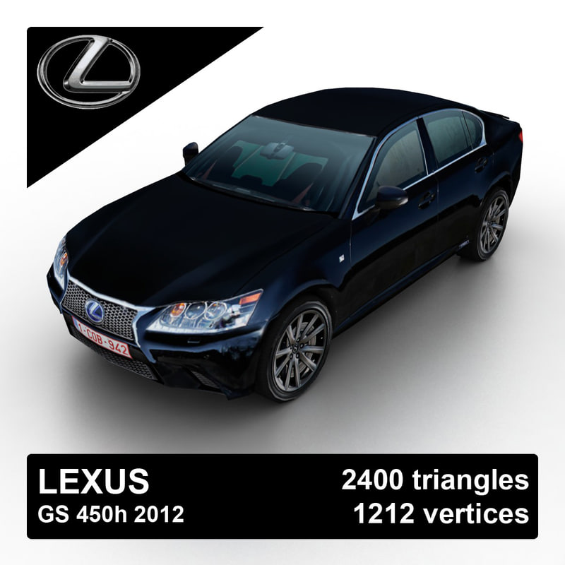 2012 lexus gs 450h 3d model