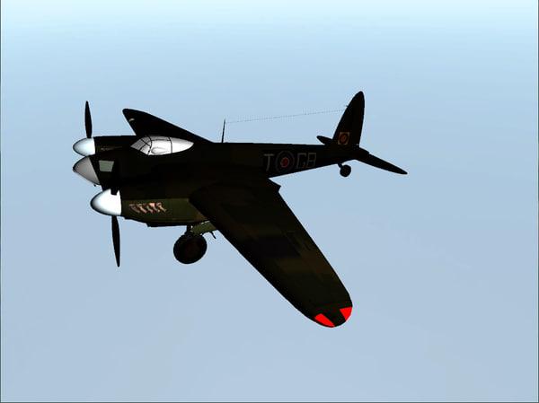 3d mosquito plane model