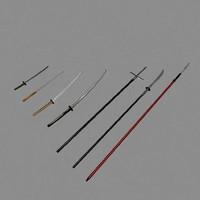 Samurai mele Weapons (Katana, Yari ect.)