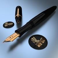 3d model of item fine writing