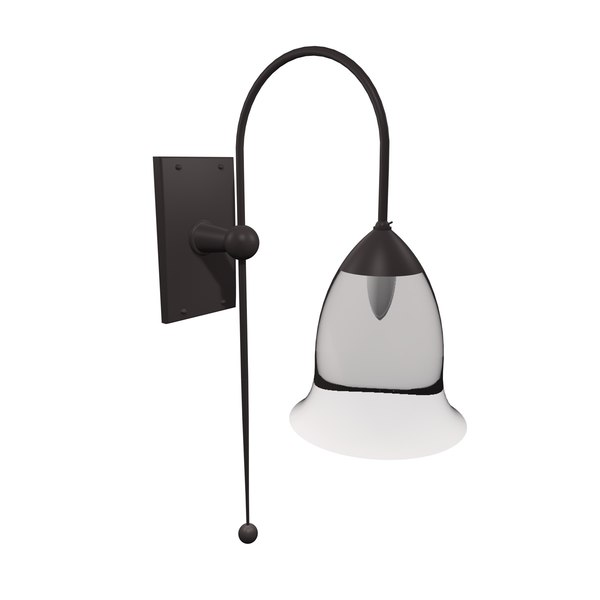 gothic wall lamp light c4d