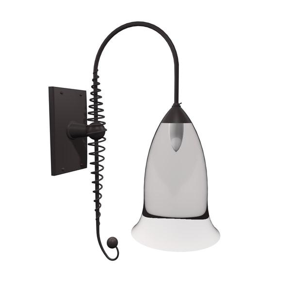 gothic wall lamp light 3d model