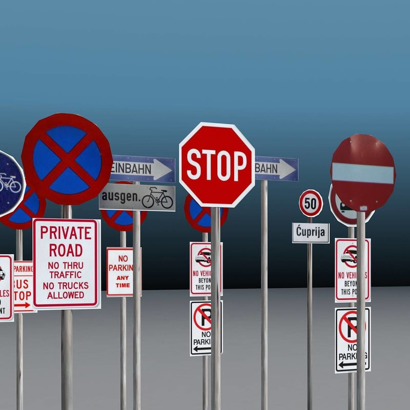 max set traffic signs