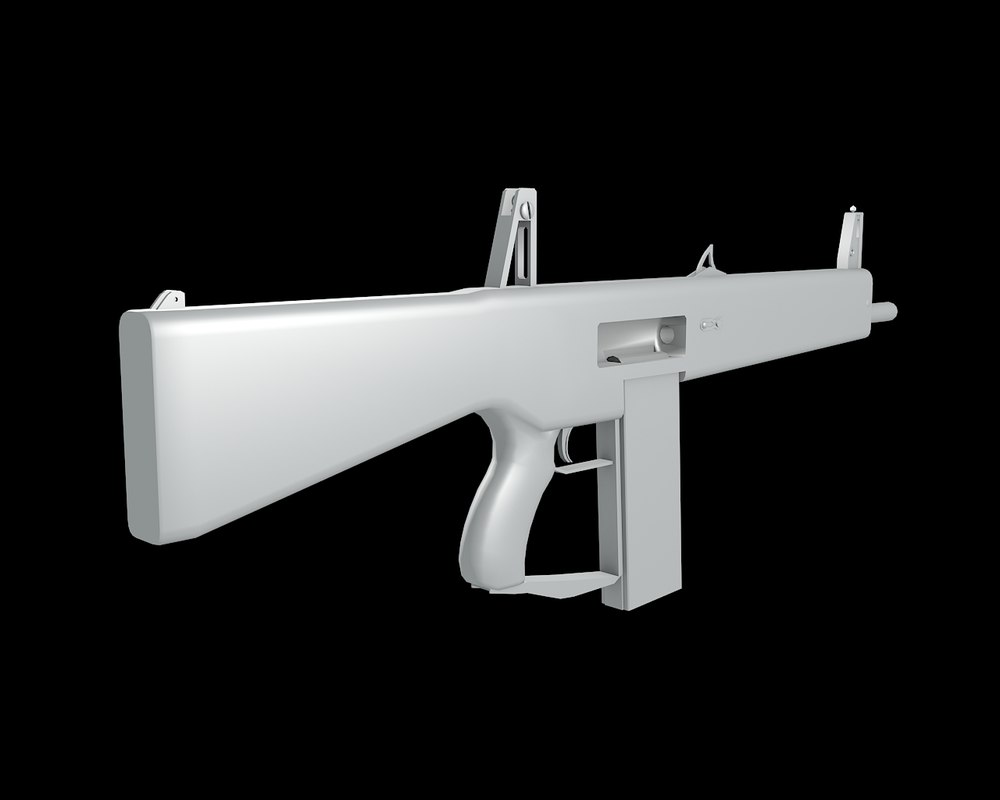 3d model of auto shotgun gun