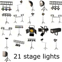 stage lights large set
