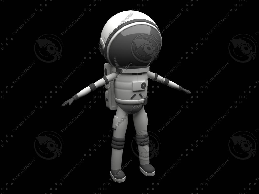 3d astronaut man