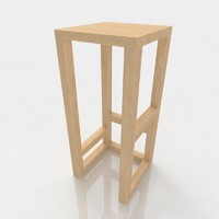 Bar stool 80 ash wood
