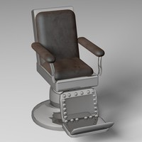 barber chair 3d c4d