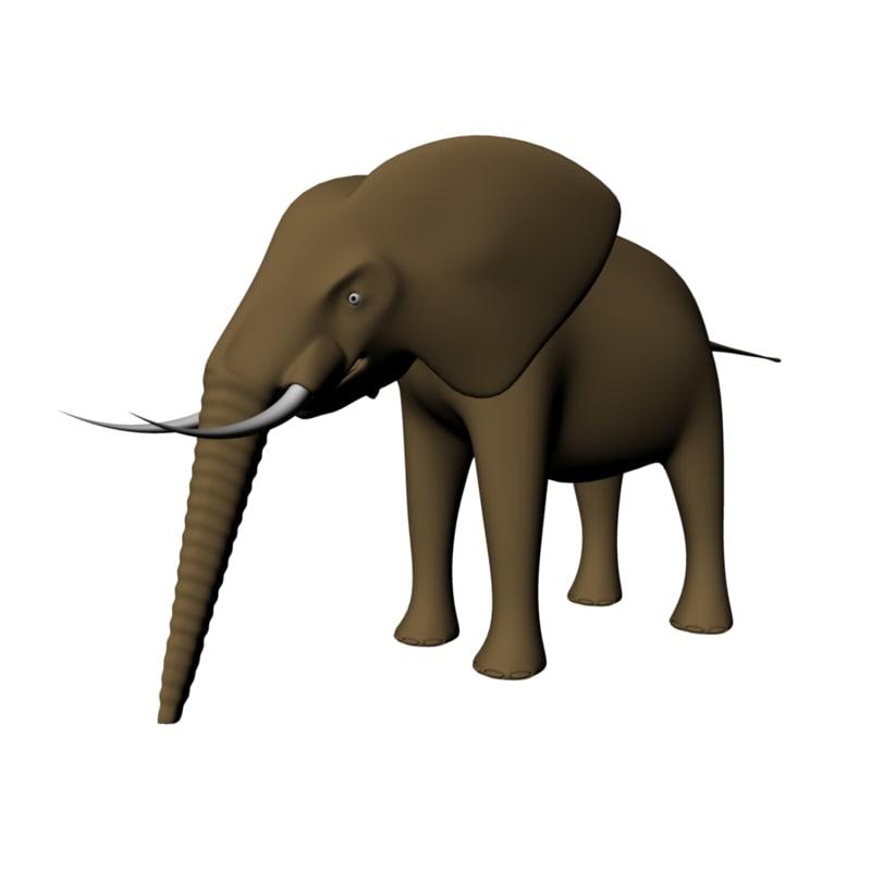 elephant 3d obj