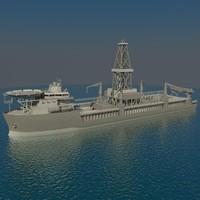 Drilling ship