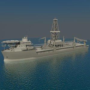 3d model drilling ship