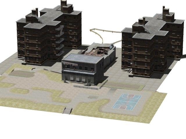 3d rendered neighbourhood landscape