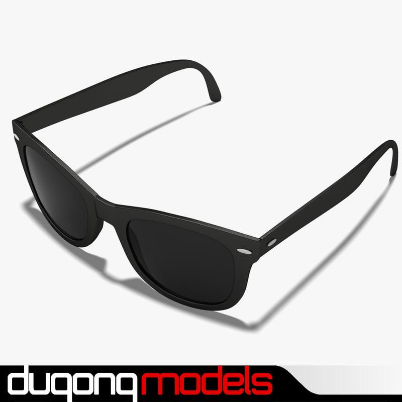 glasses sunglasses 3d model