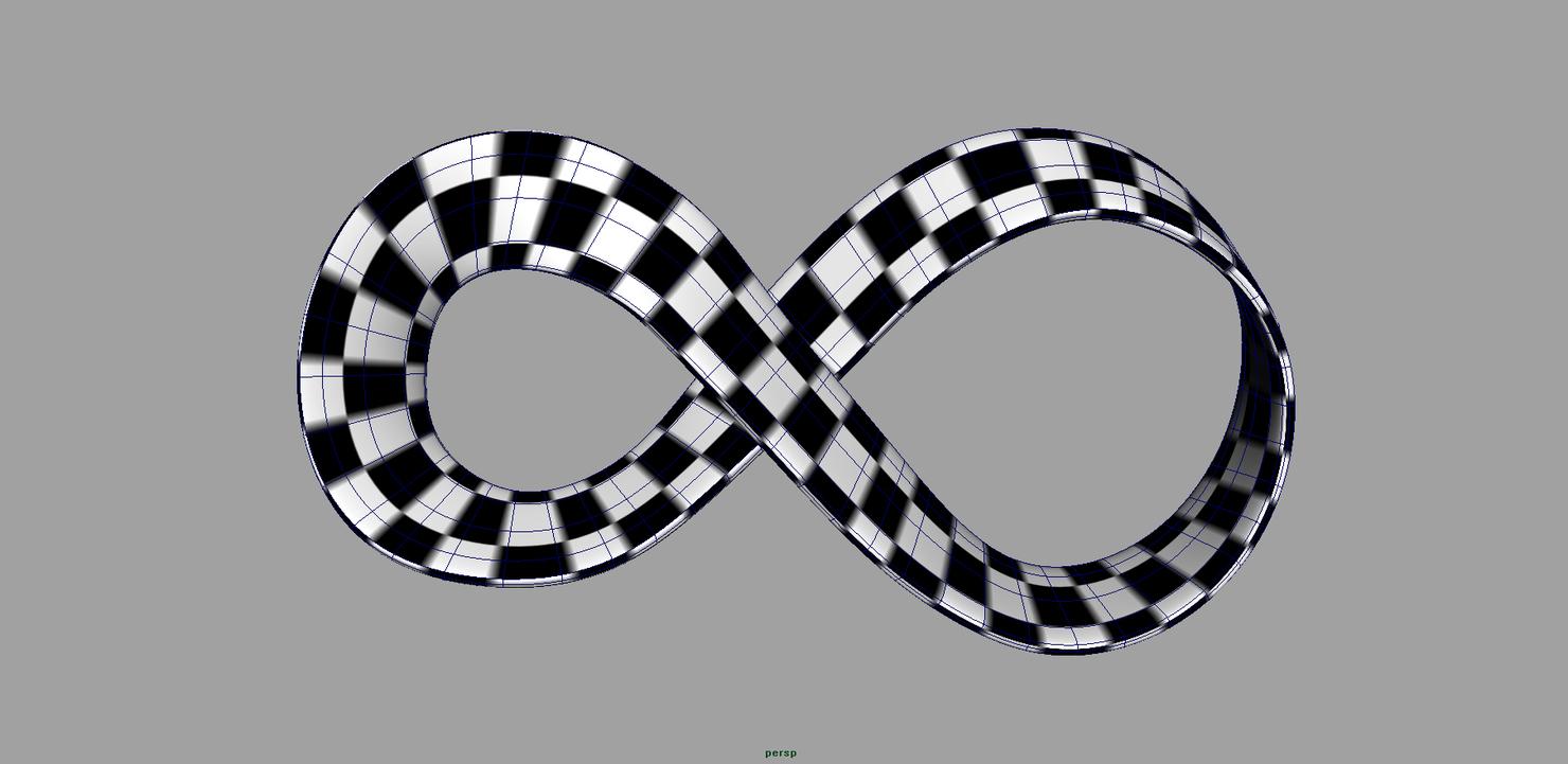 mobius strip 3d x