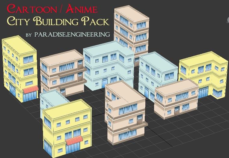 3d modular buildings model