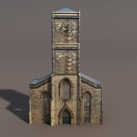 Church Low Poly 3d Model