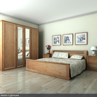 lightwave bedroom bed