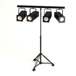 stage light 3d 3ds