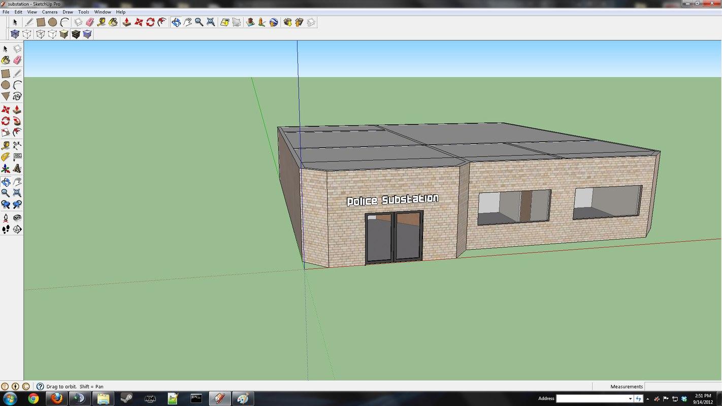 police substation 3d model