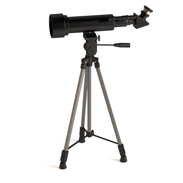 tripod telescope 3d model