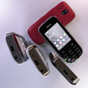 3d nokia asha 202 cellphone
