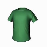 t shirt green 3d model
