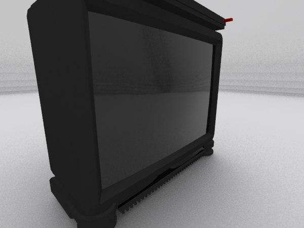 crt television 3d 3ds